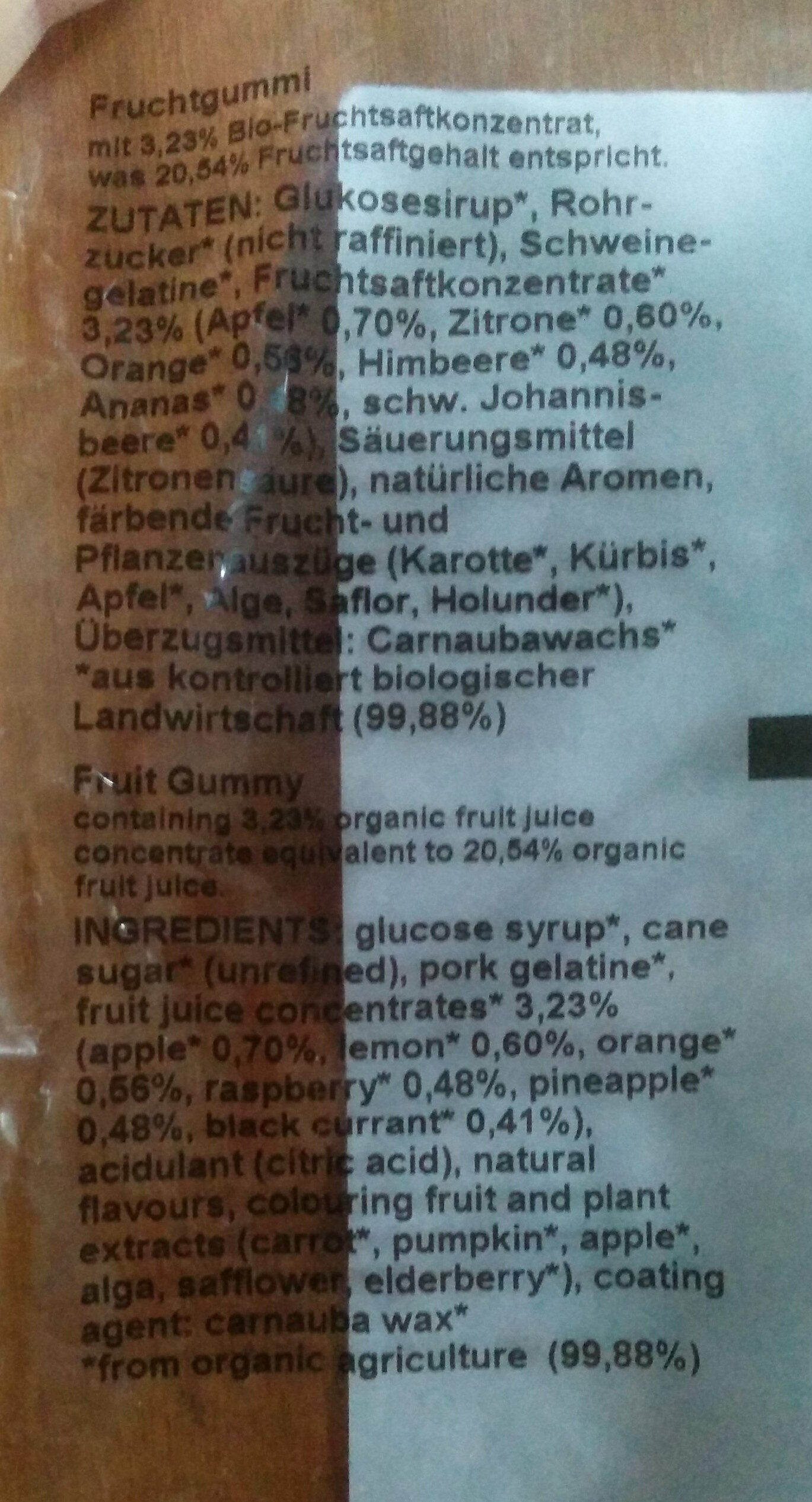 Ökovital-Bär - Ingredients