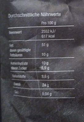Erdnüsse - Nutrition facts - de