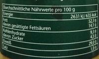 Erdnuss Creme - Voedingswaarden