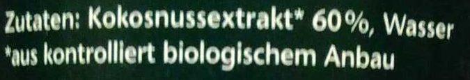 Kokomilch - Zutaten - de