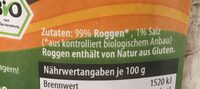 Roggen Waffeln - Ingredients - de