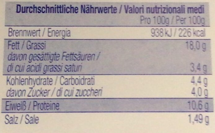 Heringsfilets in fruchtiger Tomaten-Creme - Valori nutrizionali - de