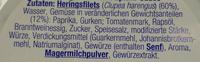 Heringsfilet in deftiger Seeräuber Sauce - Ingredienti - de