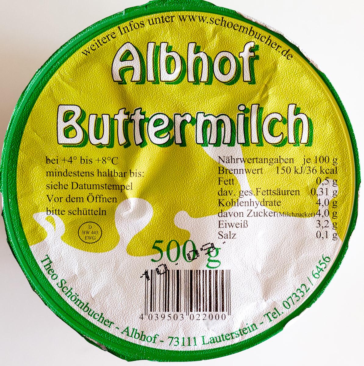 Albhof Buttermilch - Produit - de