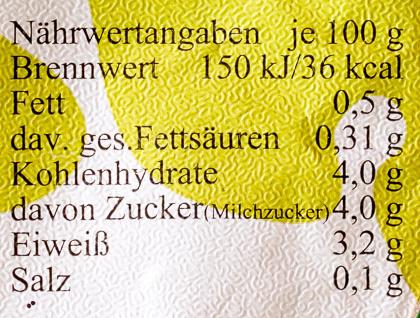 Albhof Buttermilch - Informations nutritionnelles - de