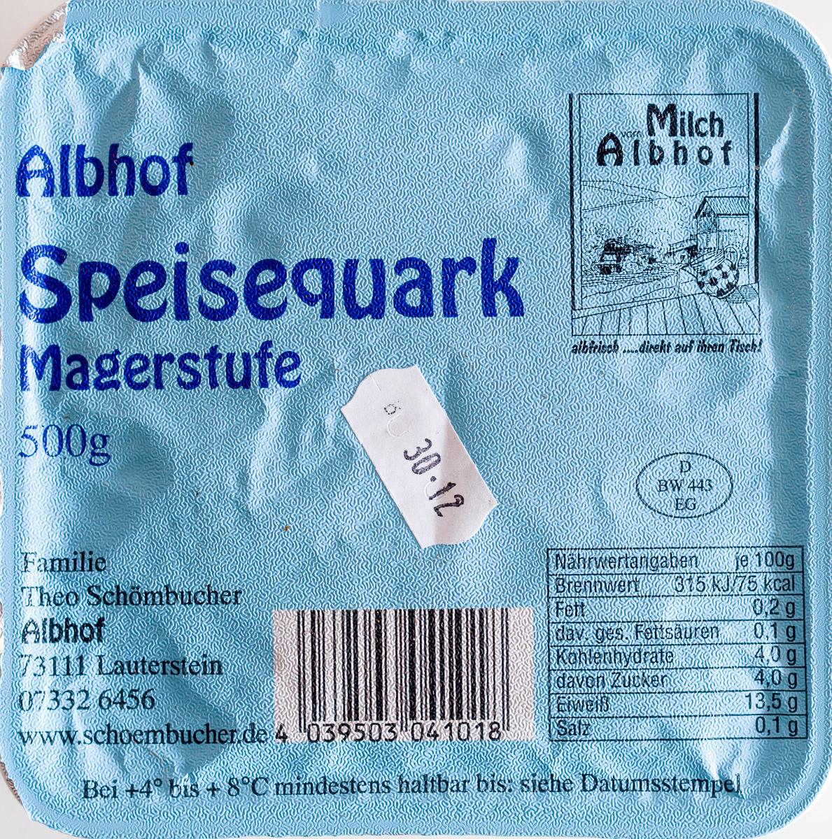 Speisequark Magerstufe - Produit - de