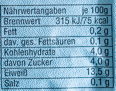 Speisequark Magerstufe - Informations nutritionnelles - de