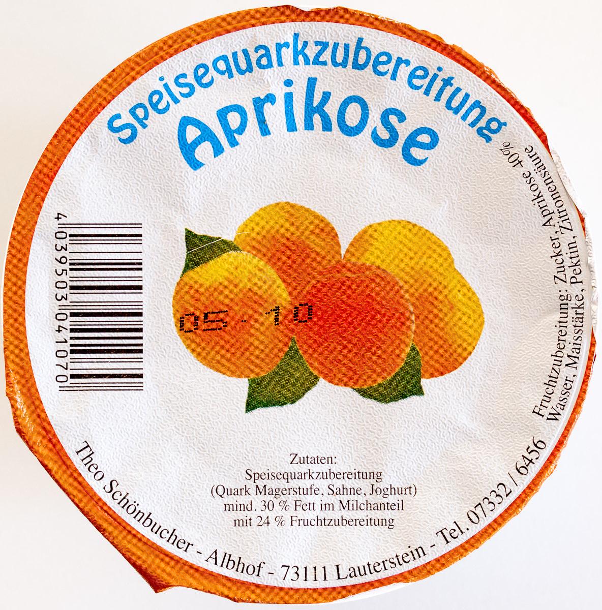 Speisequarkzubereitung Aprikose - Produit