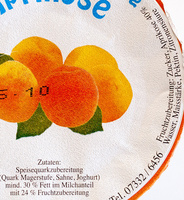 Speisequarkzubereitung Aprikose - Ingrédients