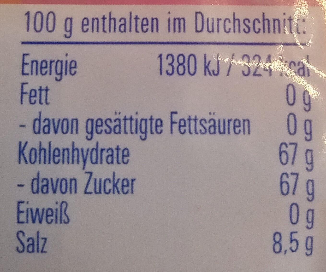 Ahoj-Brause Brausepulver - Nutrition facts - de