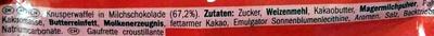 KitKat - Ingrédients - de
