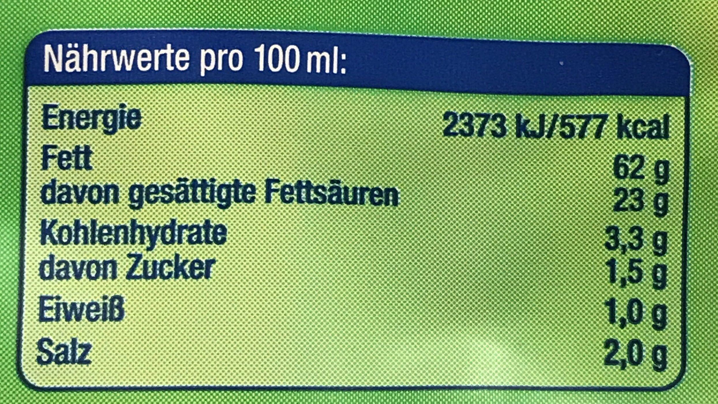Butter Kräuter Tube - Informations nutritionnelles - de