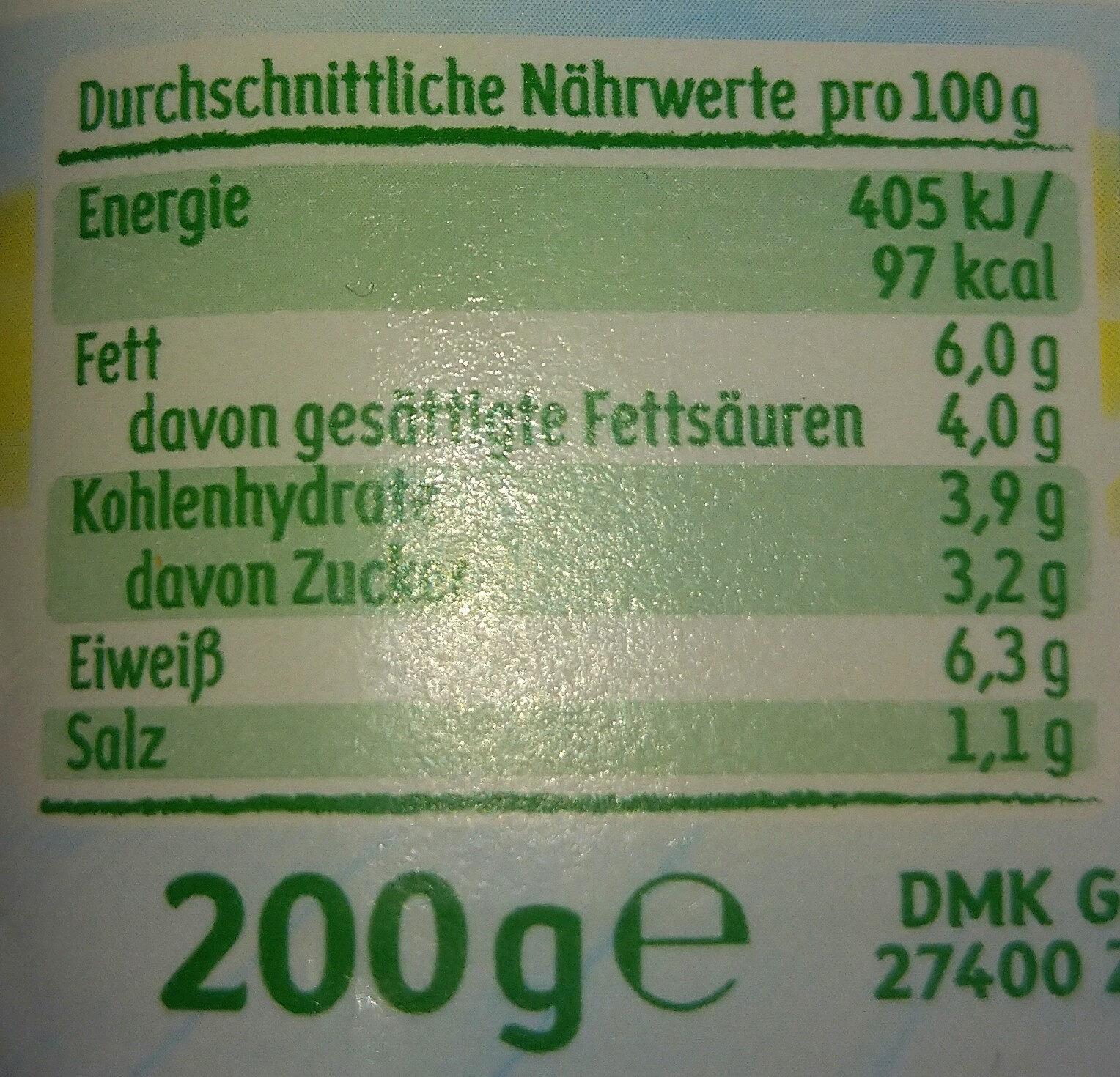 frisches Zaziki - Nutrition facts
