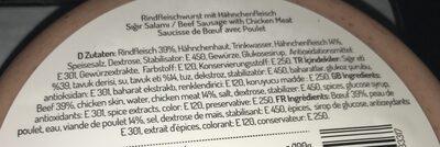 Salam De Boeuf - Ingredients - fr