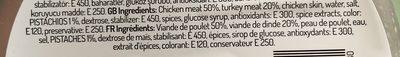 Saucisse de volaille aux pistaches - Ingredients