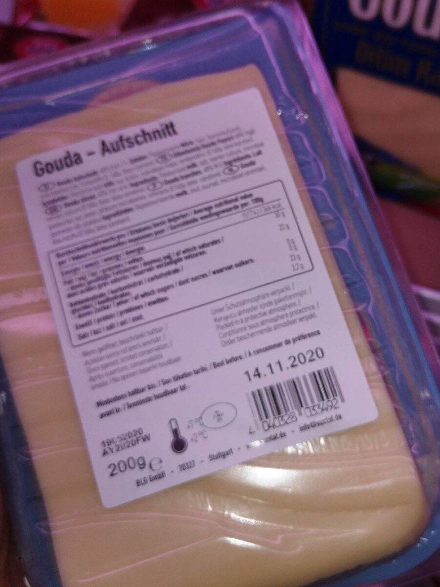 Gouda Cheese Sliced - Voedingswaarden - fr