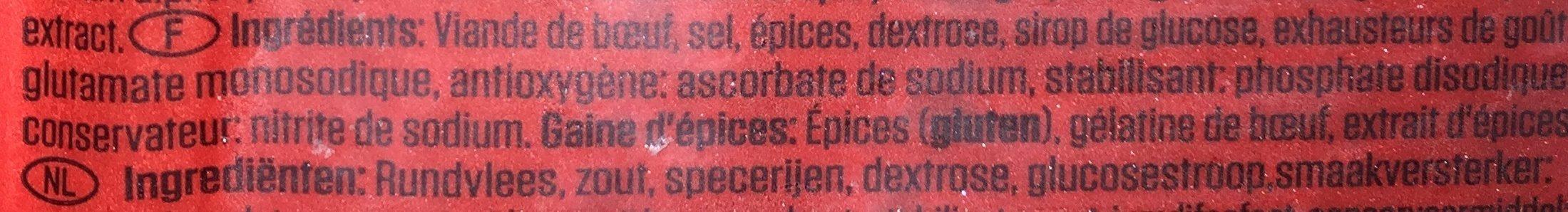 Tosun Pastirma Dilimli - Ingredients