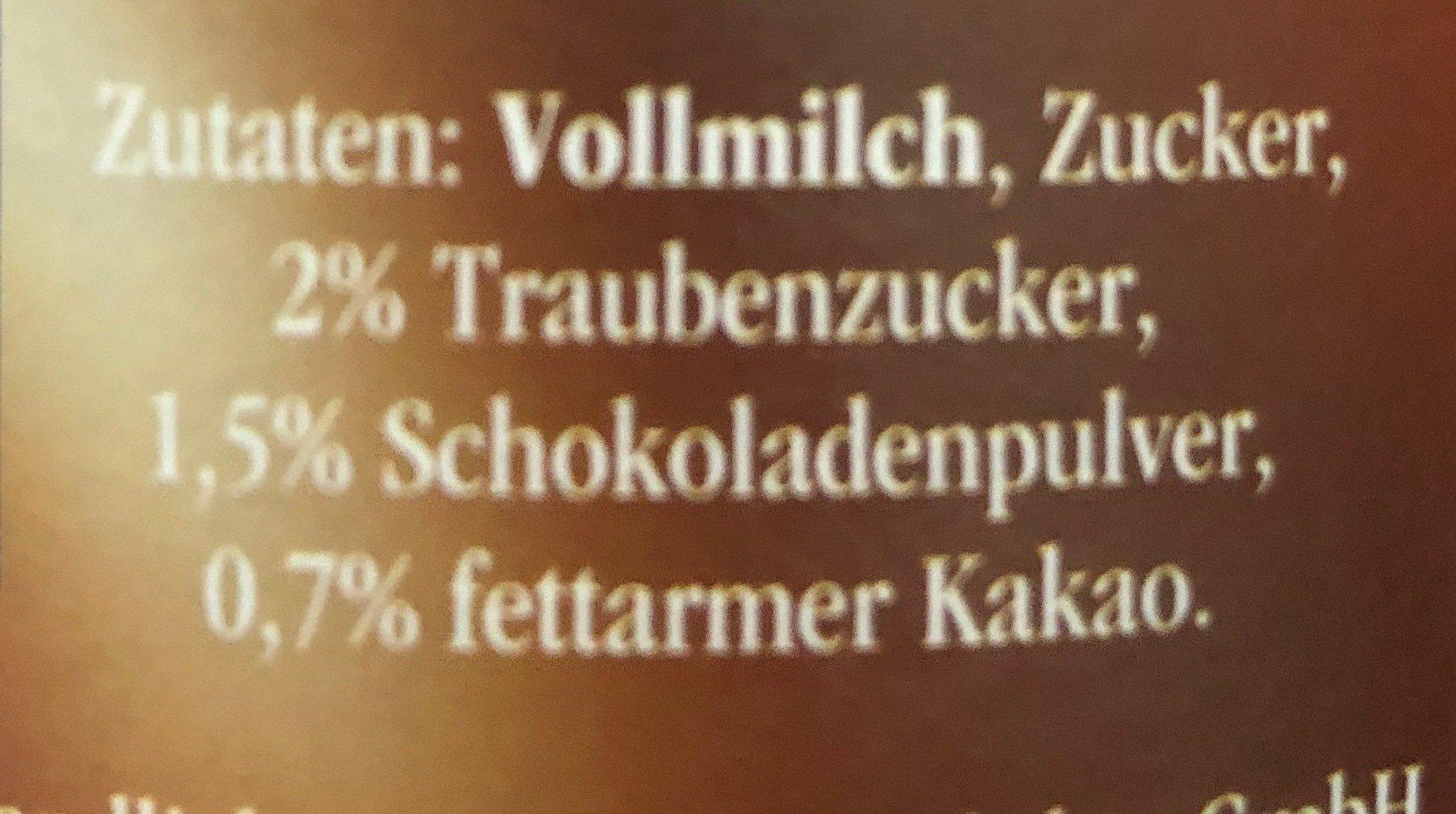Frische Kakaomilch - 成分 - de