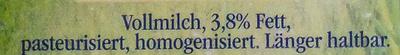 Landliebe frische Landmilch - Ingredients - de