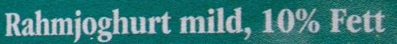 Landliebe Rahm Joghurt mild 10% Fett - Ingredients