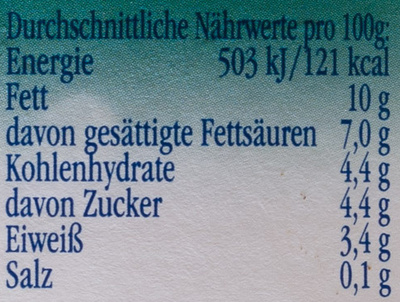 Landliebe Rahm Joghurt mild 10% Fett - Nutrition facts