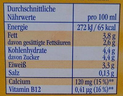 Landliebe frische Landmilch - Nährwertangaben - de