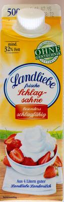 Landliebe frische Schlagsahne - Produkt - de