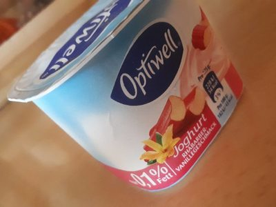 Joghurt Rhabarber-Vanillegeschmack - Produit - fr