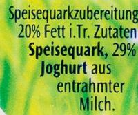 Cremiger Quark 20% Fett i. Tr. - Ingrediënten