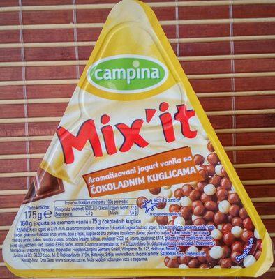 Mix it aromatizovani jogurt vanila sa čokoladnim kuglicama - Product - sr