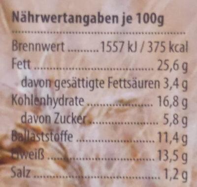 Fitness-Brot Hafer-Vollkorn - Voedingswaarden - de