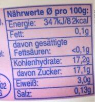 Fit yaourt - Nutrition facts - de