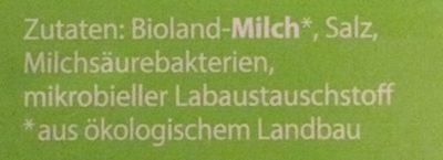 Bio Schnittkäse, in Scheiben, 48% Fett - Ingrédients - fr