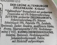 Ziegenrahm - Kräuter - Ingrédients - de