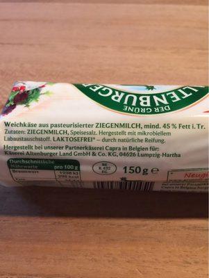 Ziegen-Rolle - Ingrédients - fr