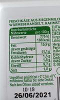 Ziegenfrischkäse - Nährwertangaben - de