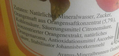Avanus Orangen-Limonade - Ingrediënten - de