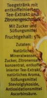 QuickDrink Eistee Zitrone - Inhaltsstoffe
