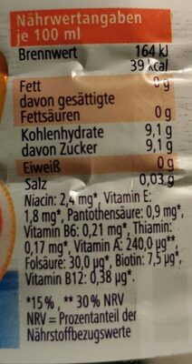 Multi-Vitamin - Informations nutritionnelles - fr