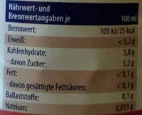Apfel-Kirsch-Zitrone - Informations nutritionnelles - de