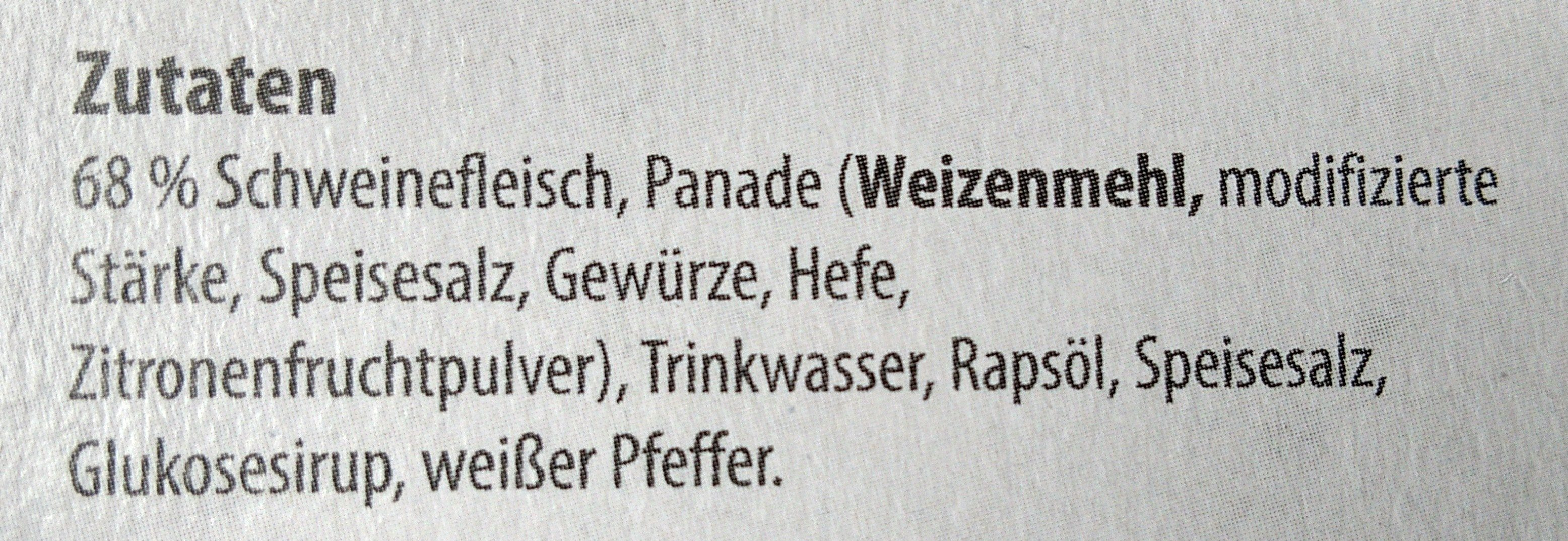 XXL Schnitzel - Ingredients