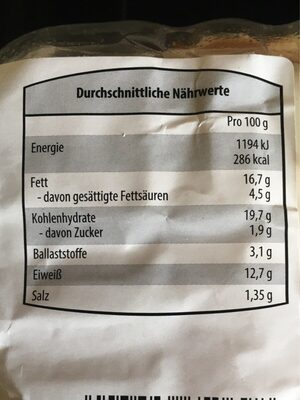 Chicken Burger - Nutrition facts - fr