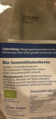 Sonnenblumenkerne - Ingredients