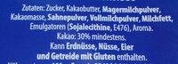 Vollmilch Schokolade - Ingredients