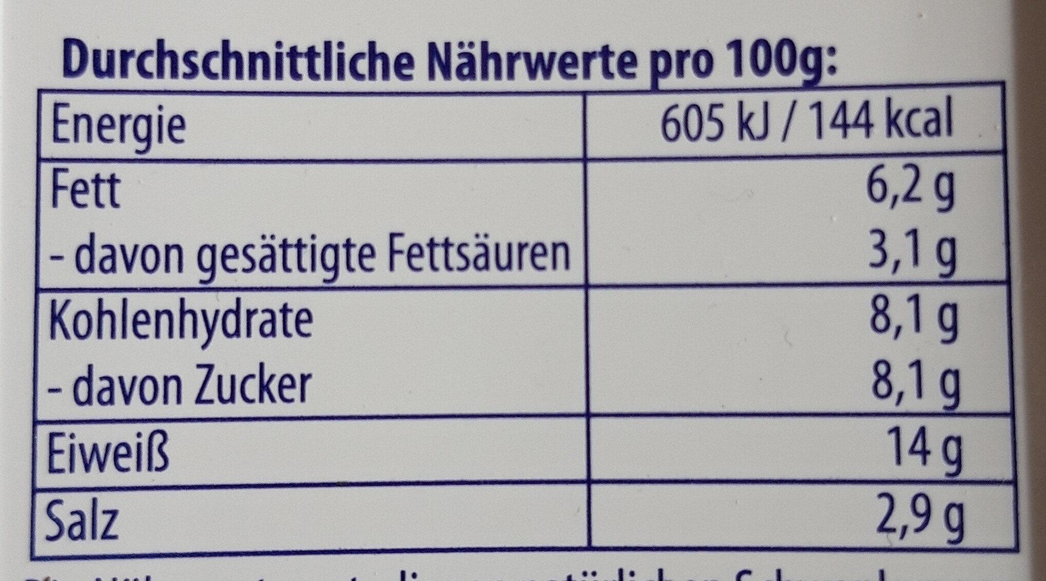 Friesenröllchen - Informations nutritionnelles - de
