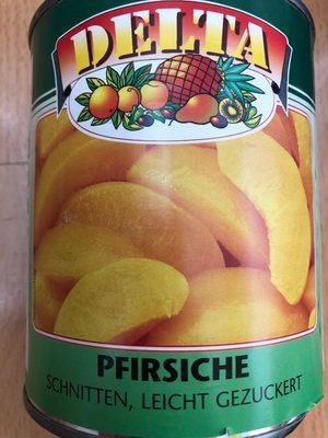 Pfirsiche Schnitten leicht gezuckert Delta - Produit