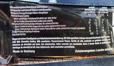 Proteinbar 52%, Peanut Caramel - Nutrition facts