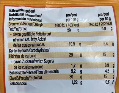 YIippie! Protein cookie bites - Informations nutritionnelles - es