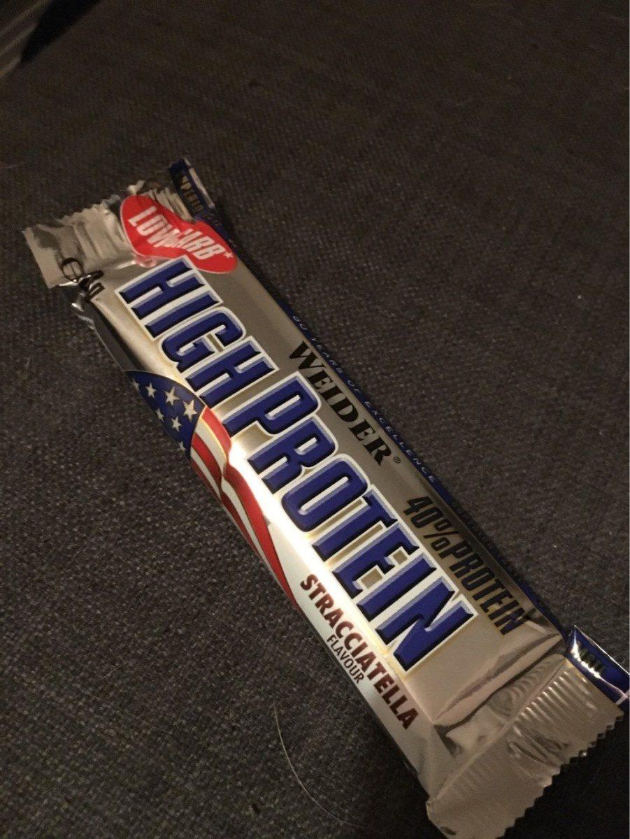Weider Low Carb High Protein Bar 40%, Stracciatella - Produit - fr