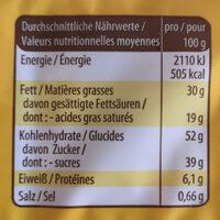 Gefüllte Frischei Waffeln, Mit Kakaohaltiger Fettg. .. - Informations nutritionnelles